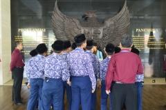 Santri Aldepos Boarding School saat tiba di Museum kepresidenan